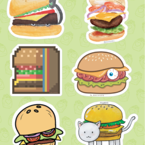 Burger Stickers 01