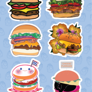 Burger Stickers 02
