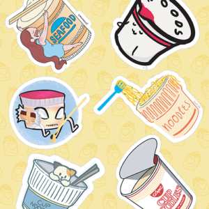 Cup Noodle Stickers