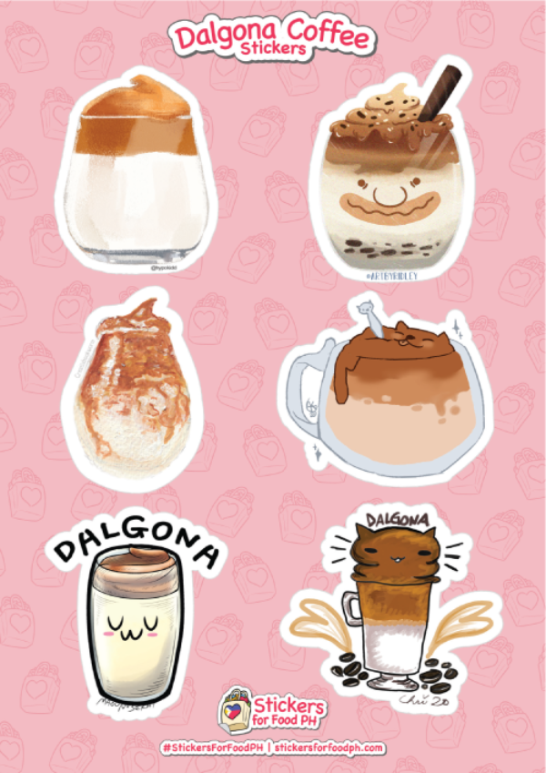 Dalgona Coffee Stickers 01