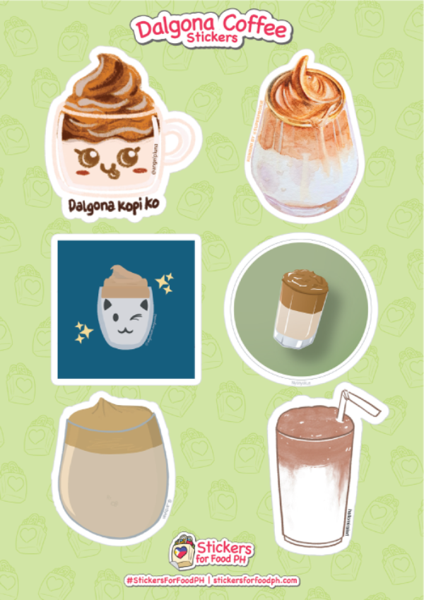 Dalgona Coffee Stickers 02