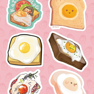 Egg on Toast Stickers