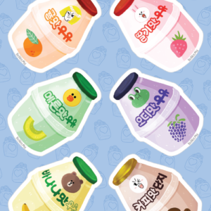 Flavored Milk Drink Stickers 01
