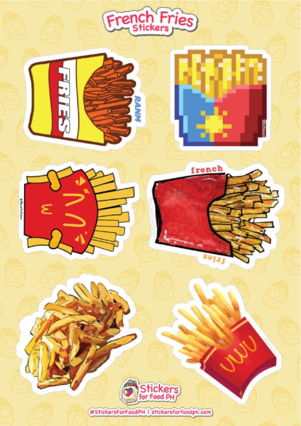 French Fries Stickers 01