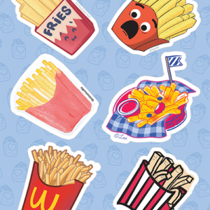 French Fries Stickers 02