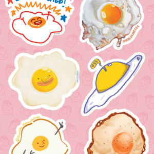 Fried Egg Stickers 01