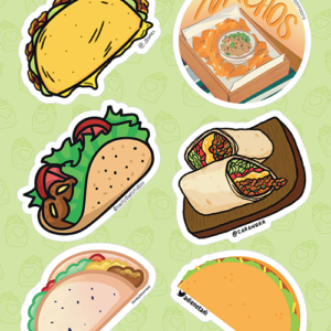Mexican Food Stickers 01