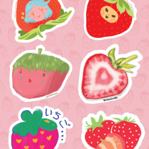 Strawberry Stickers 01